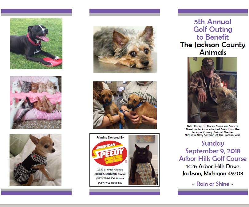5th Annual Golf Outing to benefit the Jackson County Animals