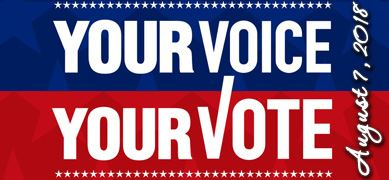 Your Voice, Your Vote - August 7th Primary