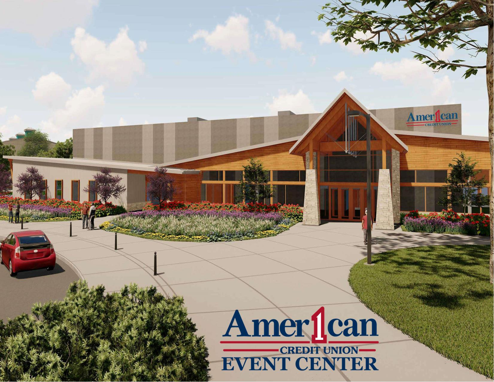 American 1 Event Center with logo