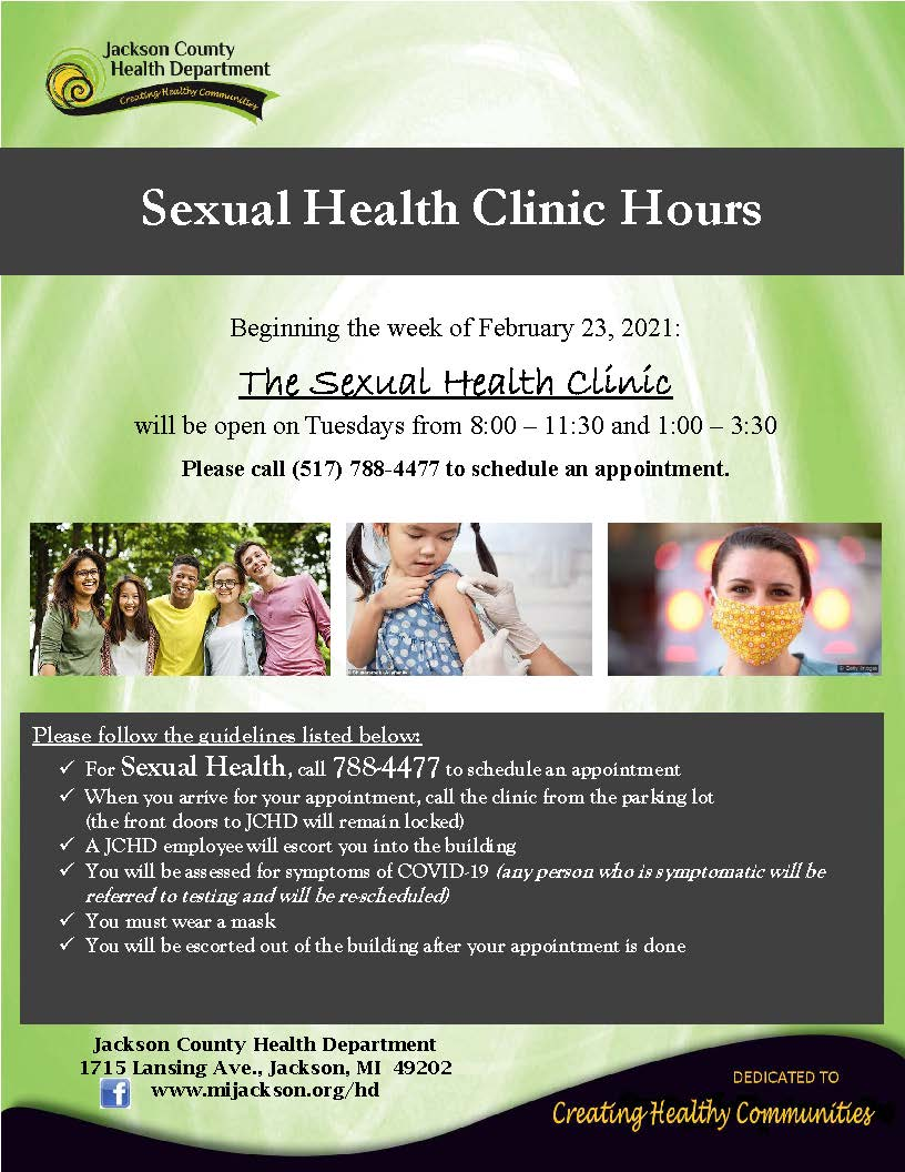 Sexual Health Clinic hours flyer 02232021 Opens in new window